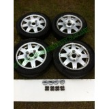 MICROCAR MC WHEEL AND 145-60-13 TYRES 8 SPOKE ALLOYS